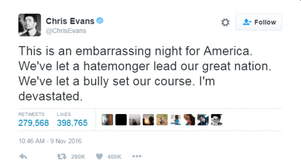 Chris Evans Gives Tom Brady Pass