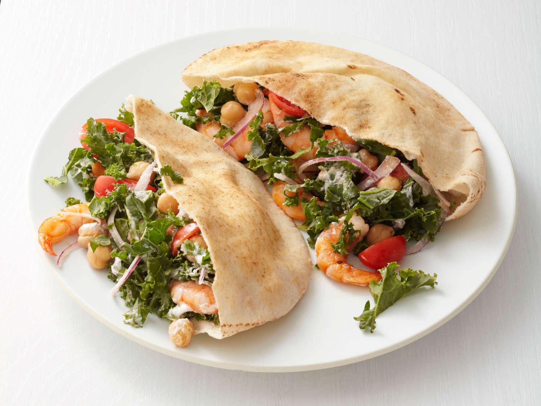 shrimp-and-kale-pitas