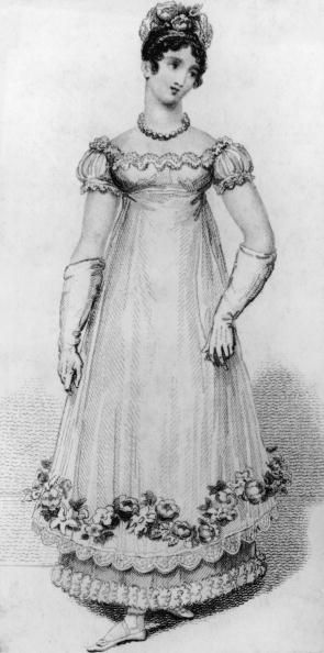 1810-1820 dress Getty Images