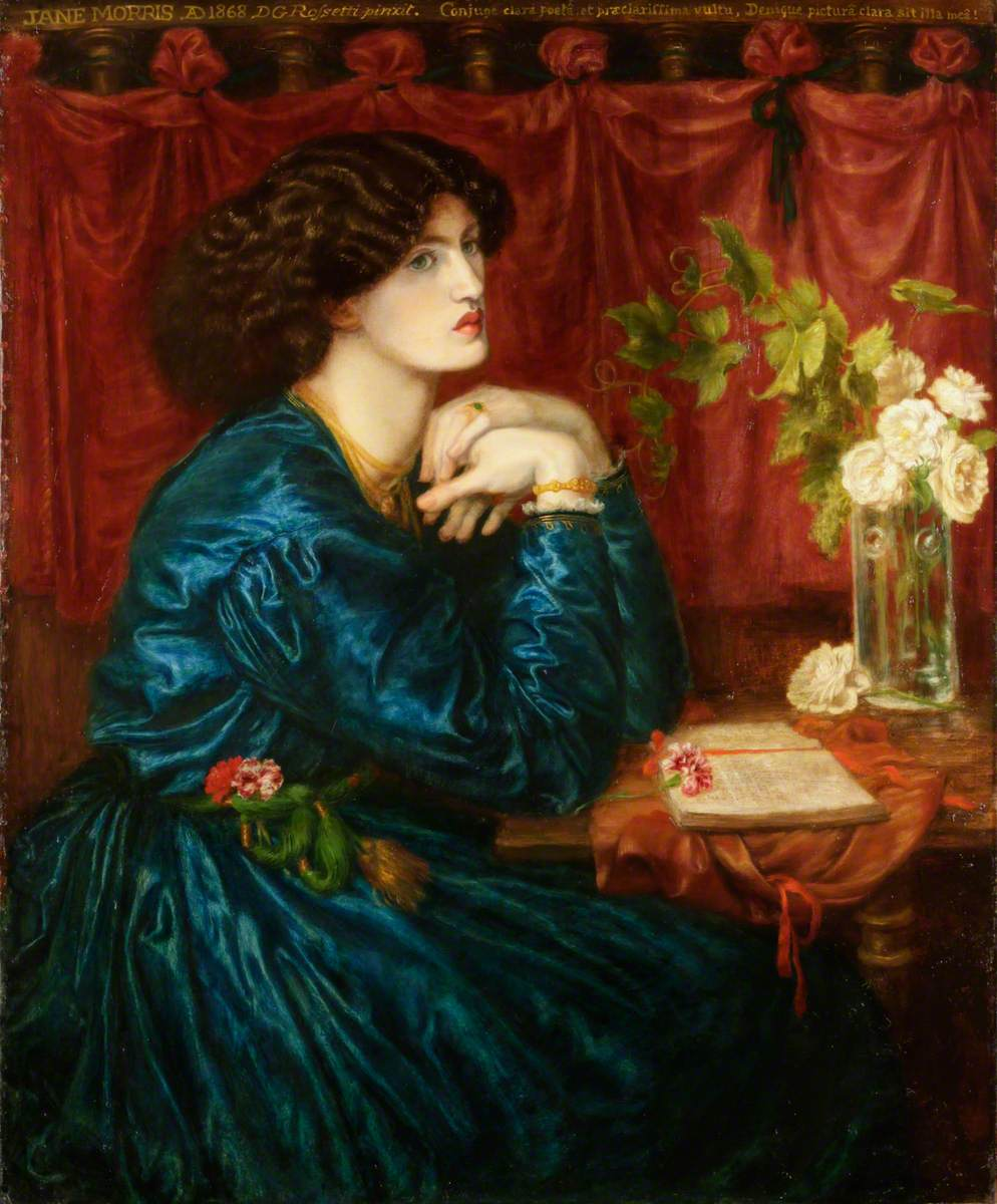 Rossetti, Dante Gabriel, 1828-1882; Blue Silk Dress (Jane Morris)