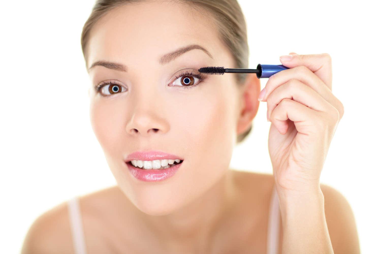 Woman makeup beauty regimen clean products