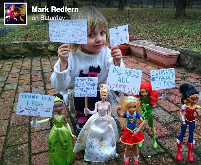 Rose Redfern Women's March Little Girl Dolls Power Empowering