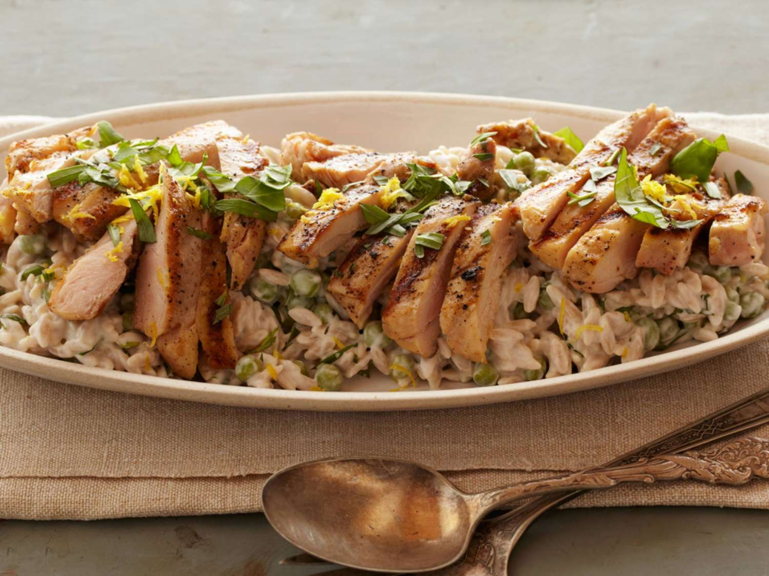creamy-lemon-pepper-orzo-with-grilled-chicken