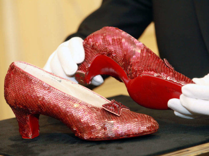 """""""The Wizard of Oz"""" Ruby Red Slippers Viewing"""